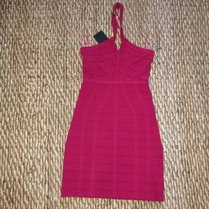 NBD Hot Pink Bandage Dress